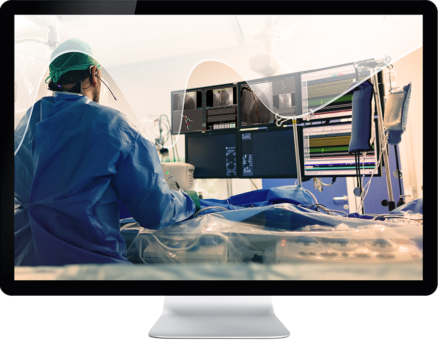 Medis Suite QFR cover on monitor
